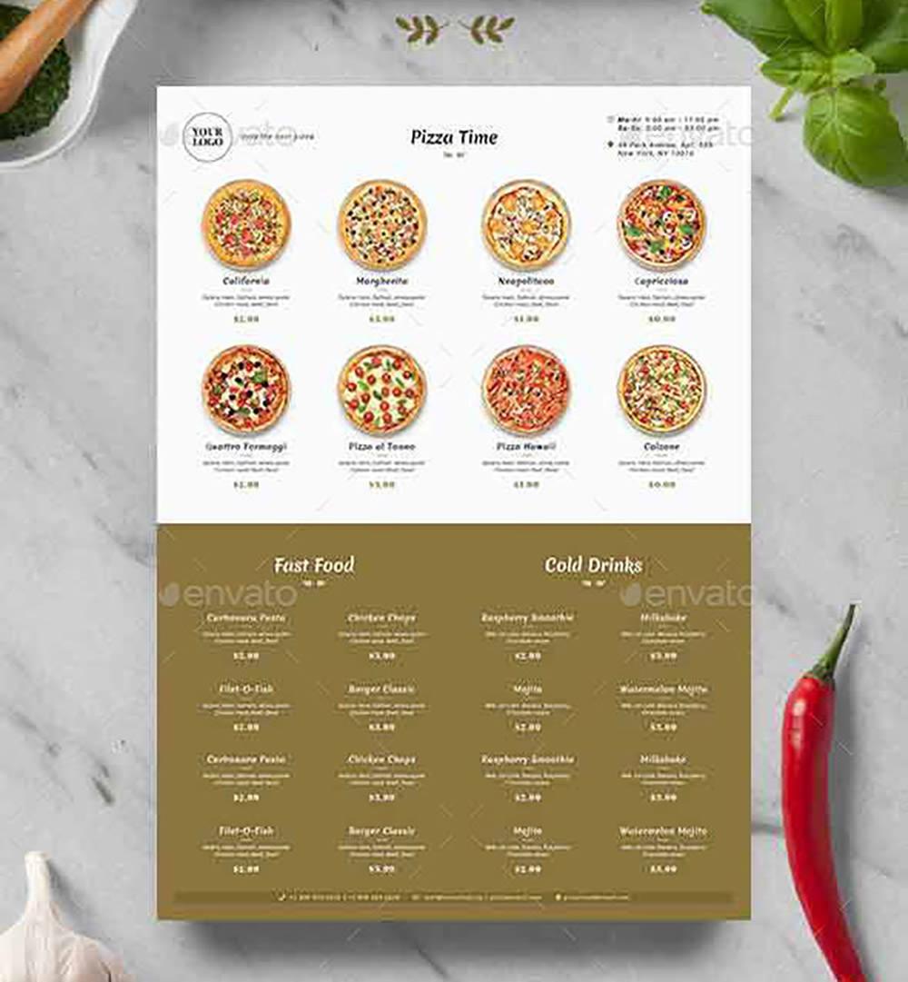 Minimalist Pizza Menu by Yoopiart