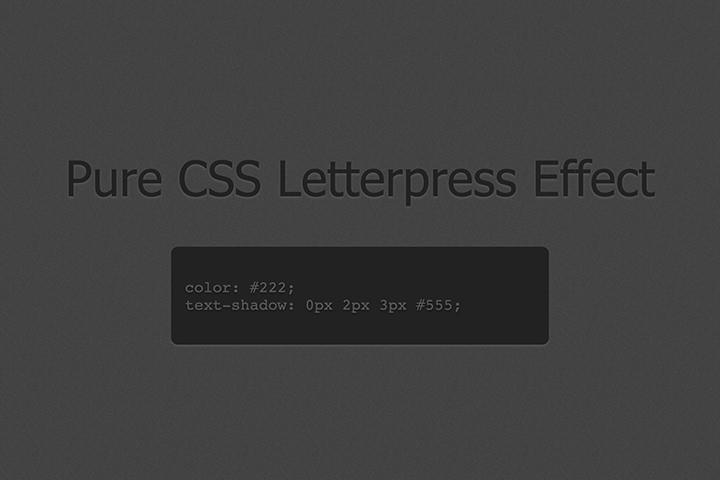css3 letterpress