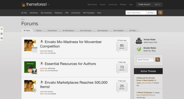 themeforest forum