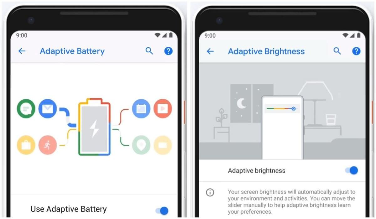 Adaptive features in Android 9