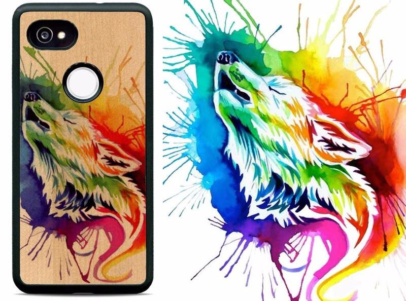 Katy Lipscomb Rainbow Burst Wolf
