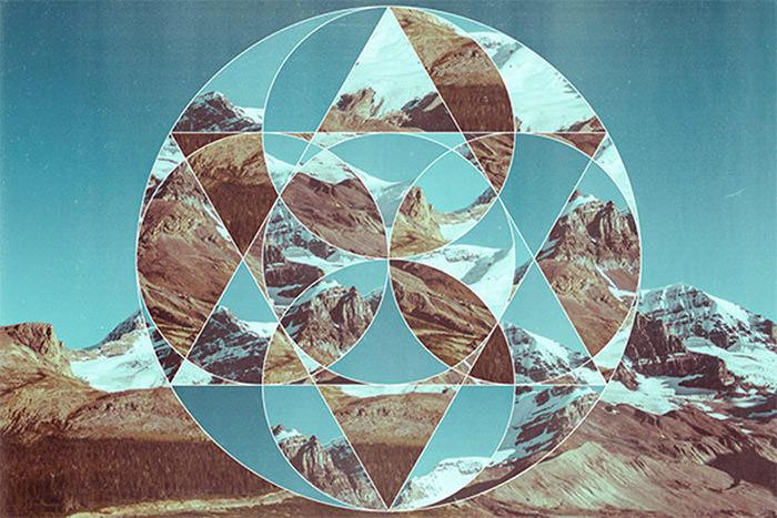 Geometric Photo Collage Art