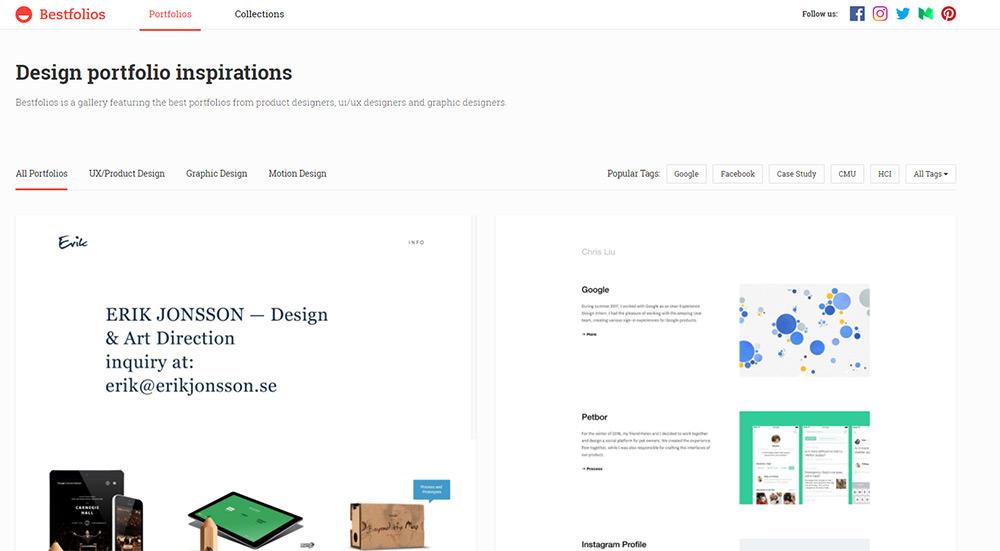 bestfolios homepage