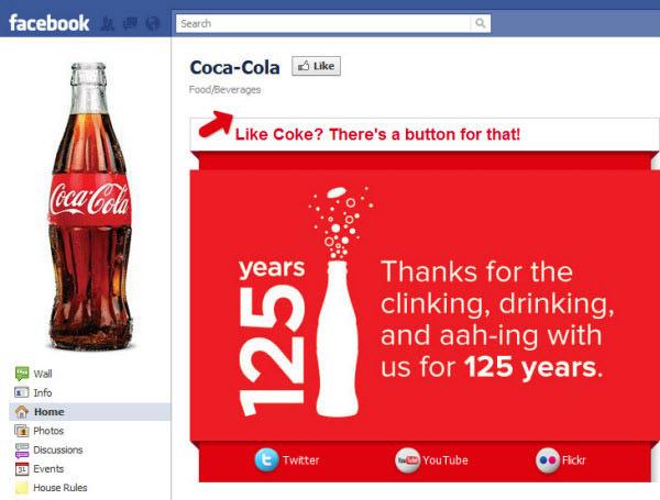 coca cola fanpage
