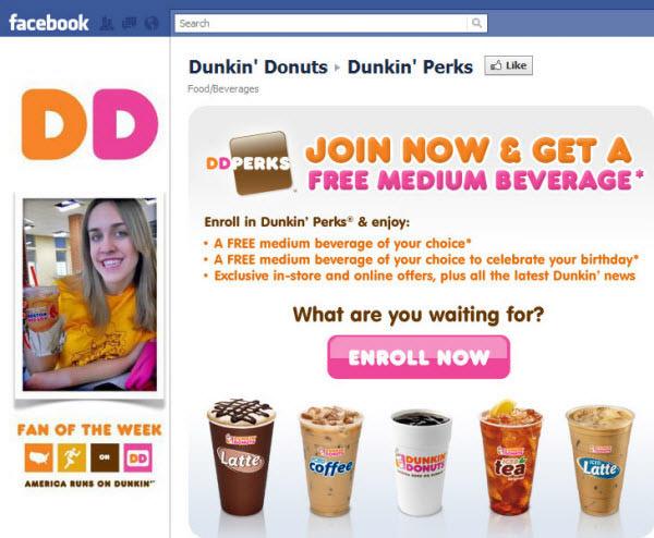 dunkin donuts fanpage