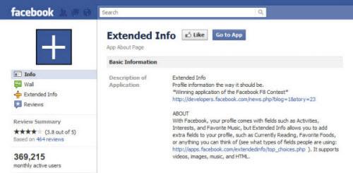 extended info