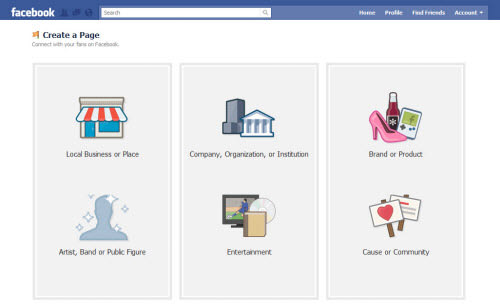 facebook create fan page