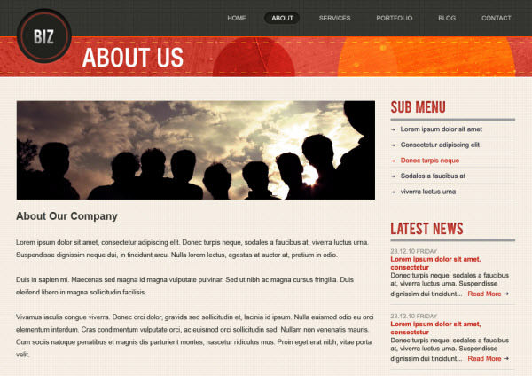biz about us page