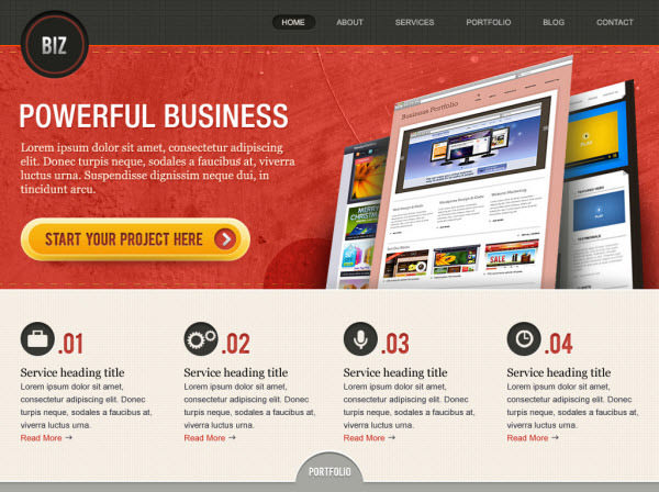 biz home page