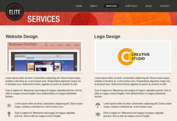 biz services page