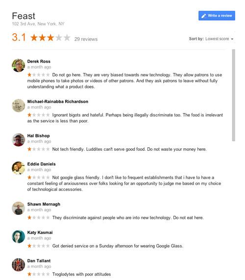 Glasshole Restaurant Review