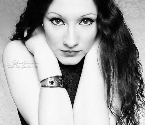 black white portrait