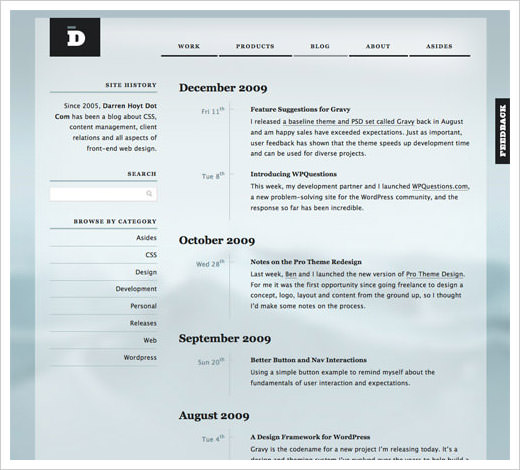 transparency website design