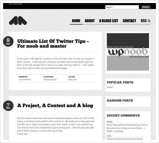grid magazine style websites