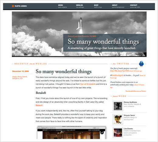 typography website design