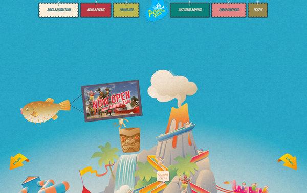 blue color website