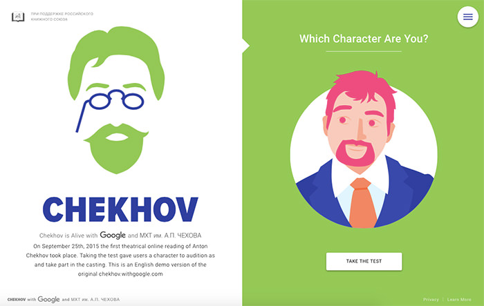 Chekhov with Google