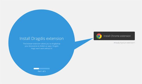 Install Dragdis Extension