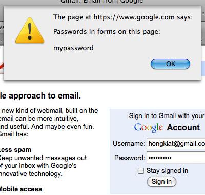 get password