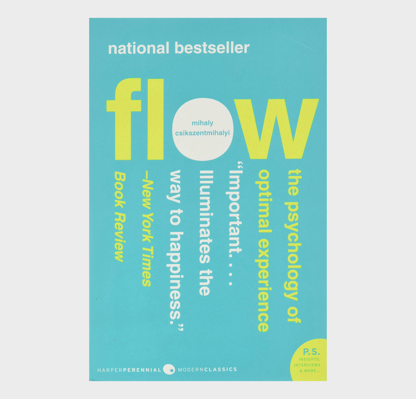 Flow: The Psychology of Happines