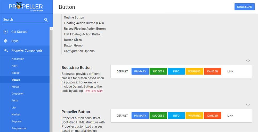 Propeller buttons