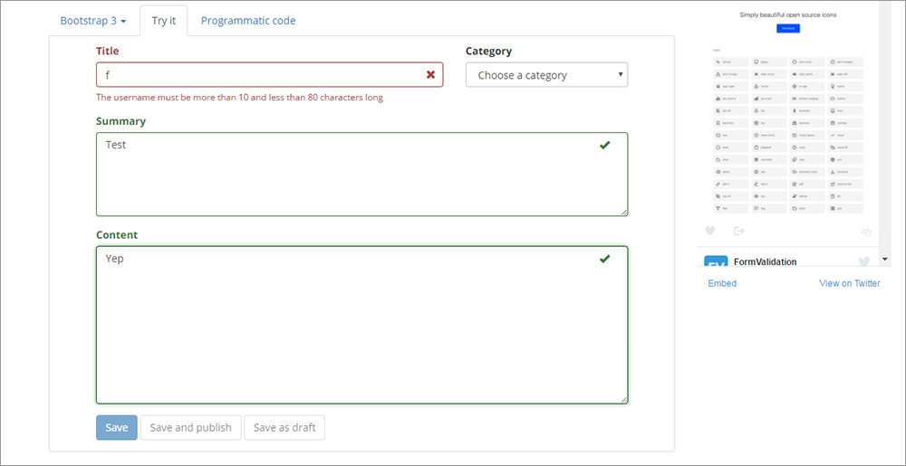 Form validation plugin