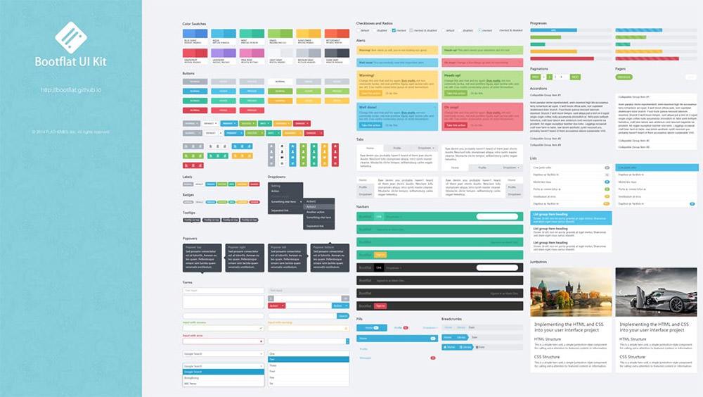 Bootflat UI framework