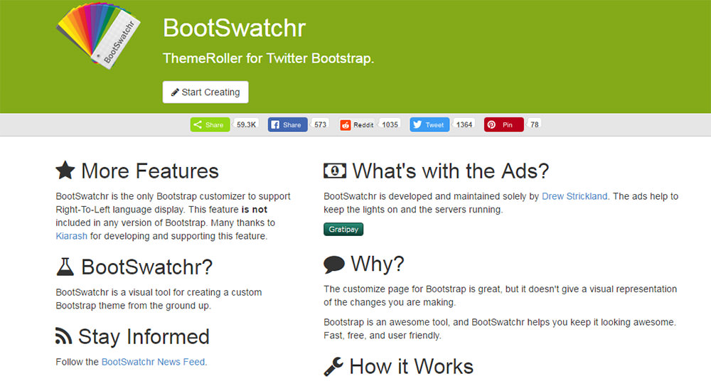 Bootswatchr Bootstrap web app