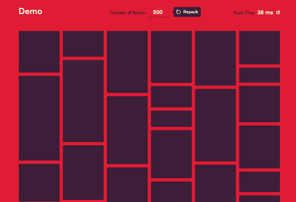 Bricks.js packing jquery plugin masonry