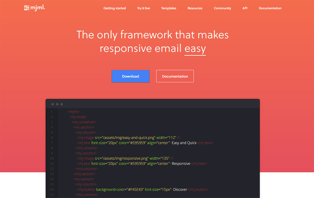 MJML newsletter framework