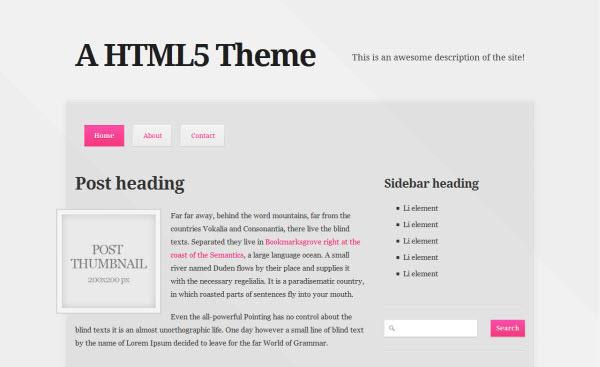 a html5/css3 theme