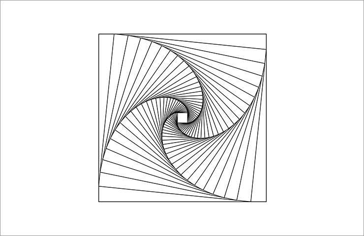 Swirl in square shape