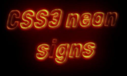 css neon