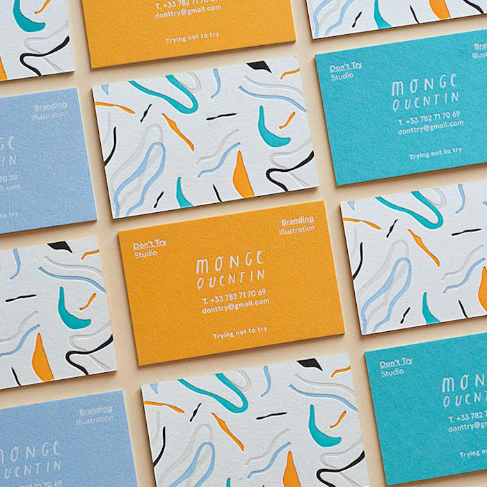 3ply Letterpress & Foil Business Cards