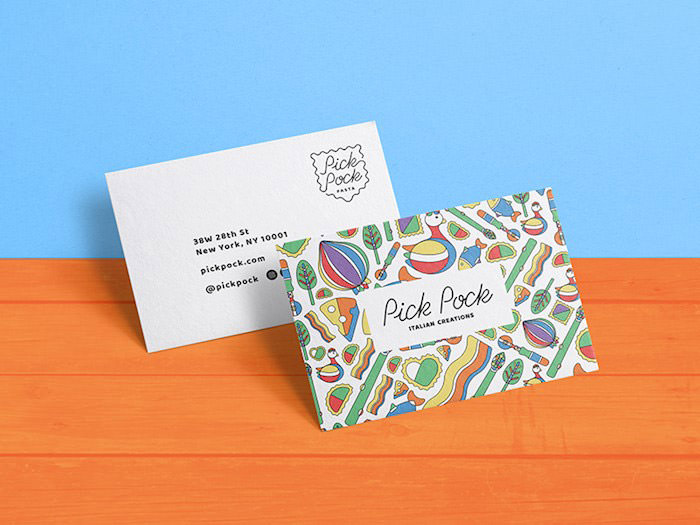 Pasta restaurant business card
