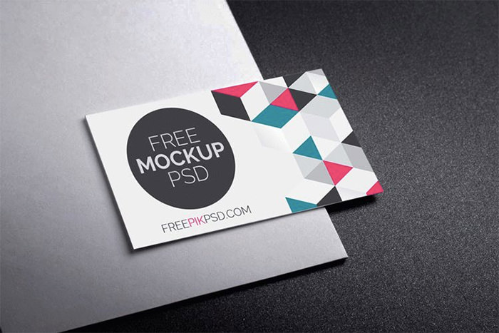 Business card design 80 creative examples and free templates hongkiat realistic business card mockup free psd fbccfo Gallery