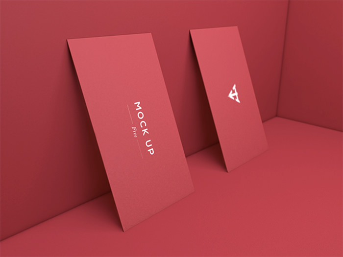 Six Business Card Mockup