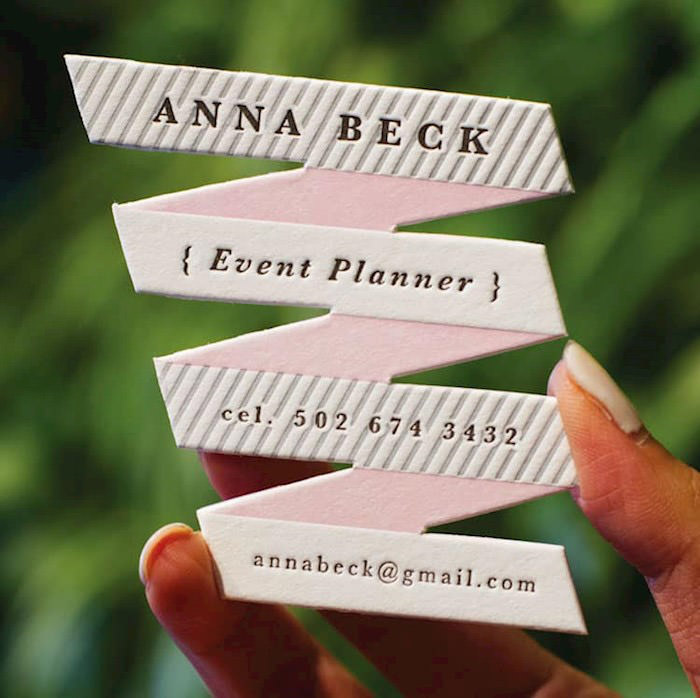 Business card design 80 creative examples and free templates event planners card reheart Gallery
