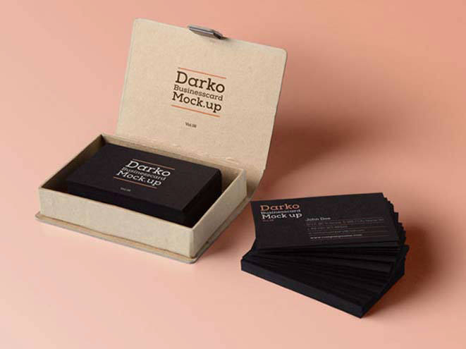 Dark Business Card Mockup