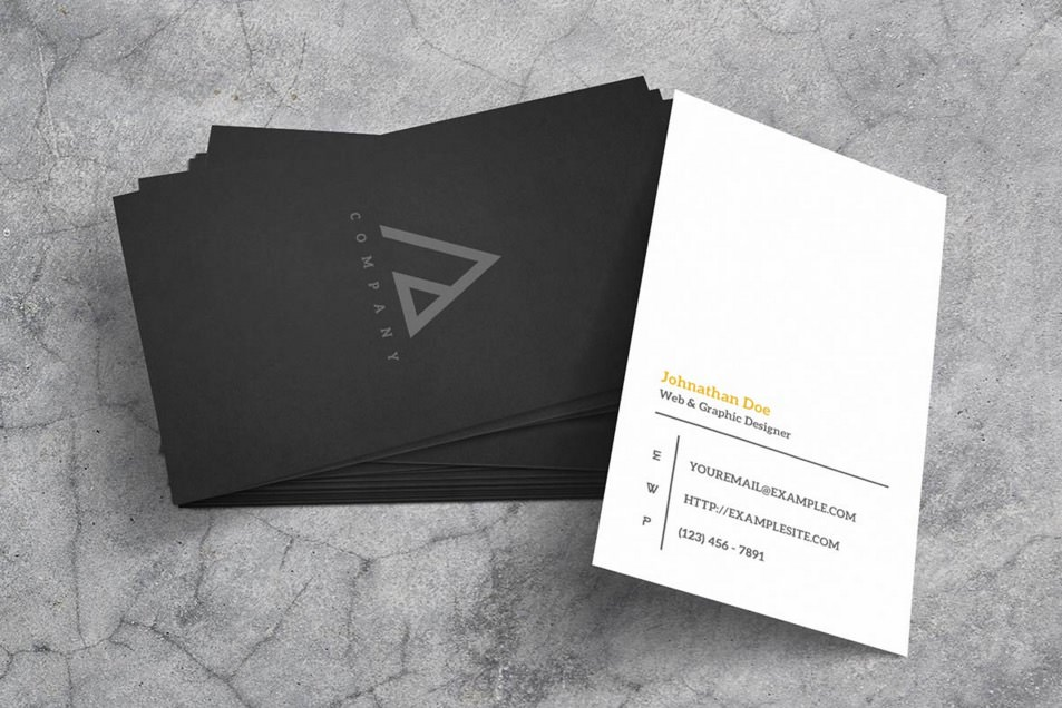 Monochromatic Business Card Mockup