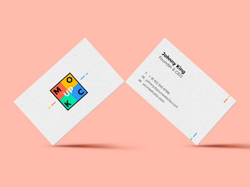 21 Free Hi-Res Business Card Mockups - Hongkiat