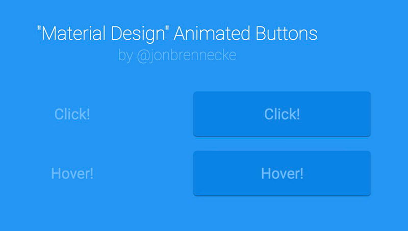Material Design Animated Buttons