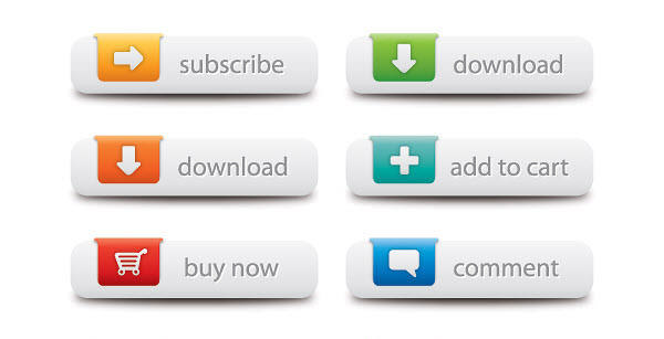 web buttons vector graphic