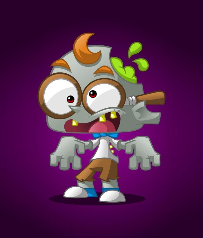 geek-zombie-mascot