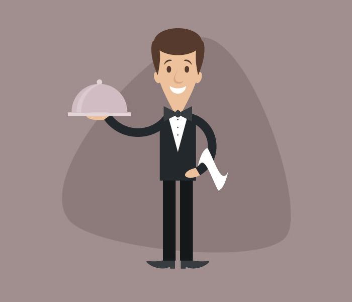 cartoon-waiter