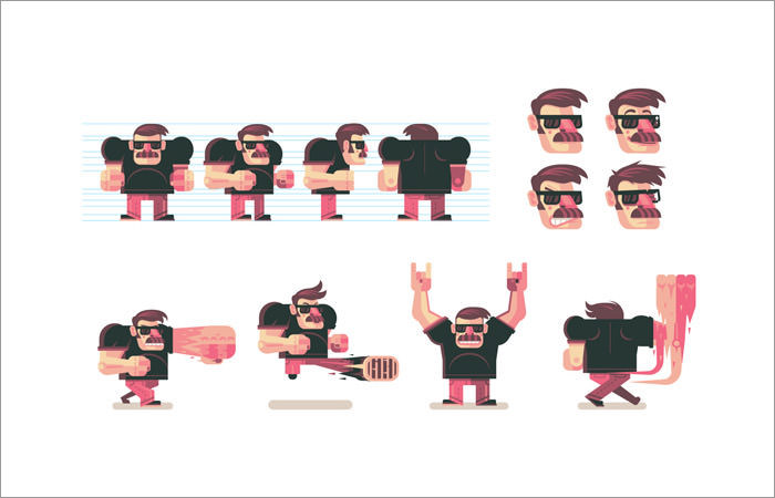 character-poses-for-a-video-game
