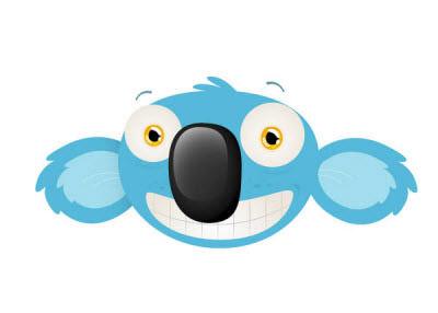 cheeky koala mascot head