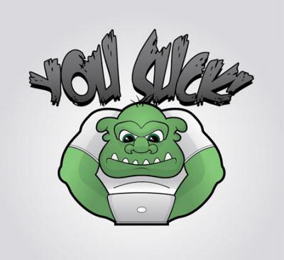 grumpy troll character