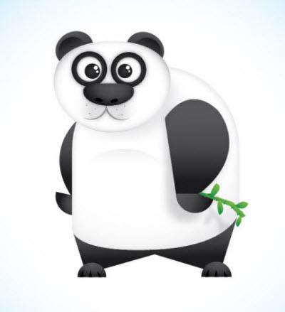 vector panda character
