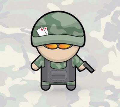 vector soldier